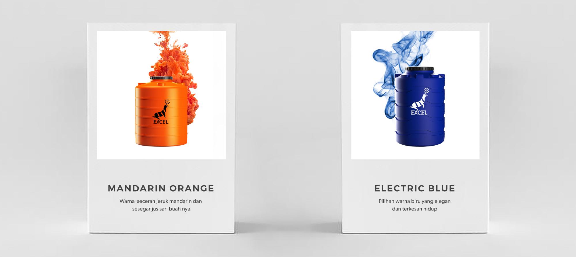 Warna Mandarin Orange dan Electric Blue