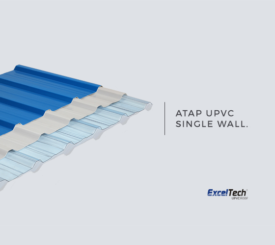 Atap uPVC Single Layer Exceltech