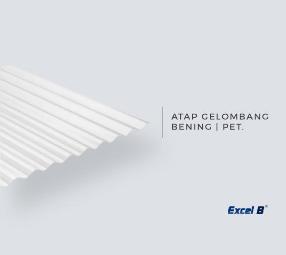 Atap Plastik / Seng Plastik Bening Gelombang PET