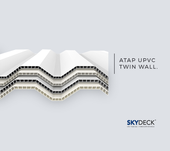 Gambar Atap uPVC Double Layer SkyDeck
